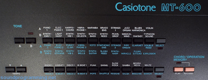 casio mt 260 manual