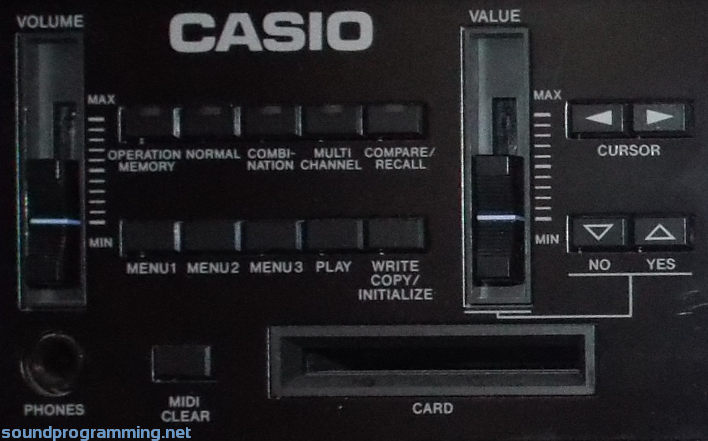 Casio VZ-10M Front Panel - Left Side