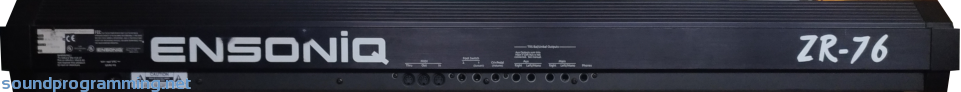 Ensoniq ZR-76 Rear View