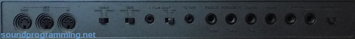 Korg DW-8000 Rear Connections