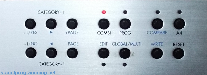 Korg TR-Rack Front Panel Buttons