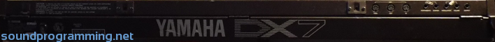 Yamaha DX7 Back