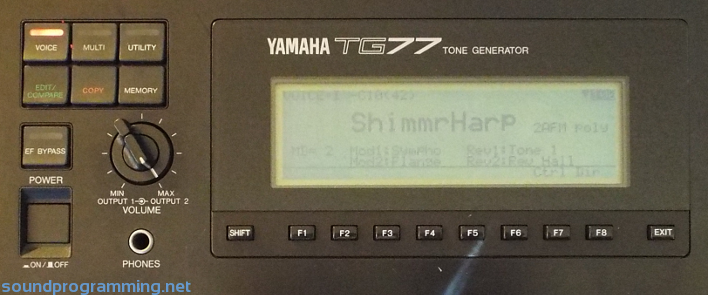 Yamaha TG77 | Sound Programming