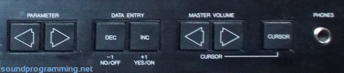 Yamaha TX81Z Panel Right Side